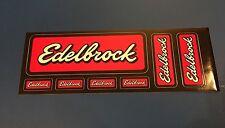 EDELBROCK MANIFOLD Racing GLOSSY Multi Decal Sheet & Bonus Sticker!