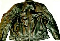 Xelement 'Frenzy' Men's Black Armored Leather Motorcycle Jacket 2XL