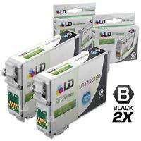 LD Reman Replacement T126120 for Epson T126 126 Set of 2 Black Inkjet Cartridges