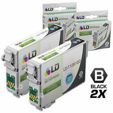 LD © Remanufactured Epson T126120 Set of 2 High Capacity Black Ink