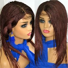 "Braided lace front Wig red Wig Long Micro Millions Braids 2"" by 6"" deep part"