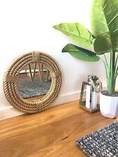 Handmade Round Rope Twisted Mirror Hampton Nautical Design Home Decor 41cm