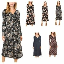 Polyester V-Neck Floral Dresses for Women