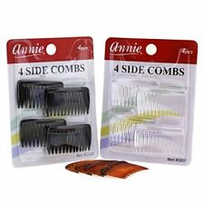 *PICK* 4pc Side Combs Small Clear Black Tortoise Brown CLIP Hair Pin Accessory