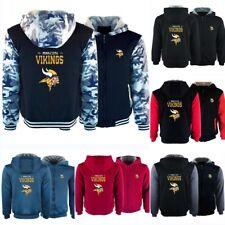 Minnesota Vikings Hoodies Thicken Hooded Fleece Sweatshirts Winter Warm Jacket