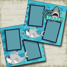 Shark - 2 Premade Scrapbook Pages - EZ Layout 3104
