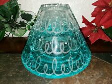 Yankee Candle Easter Springs Swirls Crackle Glass Jar Candle Shade - New! Blue