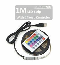 1M LED Strip USB 5050 RGB Flexible Desktop LED Light 5V TV Background Lighting