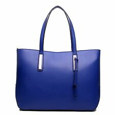 Ladies Designer PU Leather Handbag Large Shoulder Tote Large Laptop Bag A4
