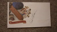 AUSTRALIAN CRICKET GREAT DIRK WELLHAM HAND SIGNED CRICKET COVER