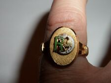 CLARK&COOMBS 10K GOLD FILLED DAUGHTERS OF REBEKAH ODD FELLOWS RING SIZE 7