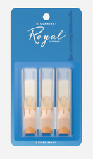 Rico Royal Bb Clarinet Reeds - 3-pack - Ideal For Advanced. Strength: 3.0