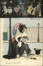 Xavier Sager Wild Sexy Women Drinking Smoking Dancing Shopping Postcard #7