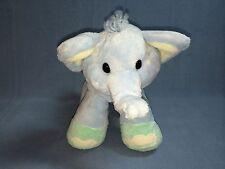 "Aurora Baby 11"" Baby Blue Plush Elephant Stuffed Animal Toy Lovey"