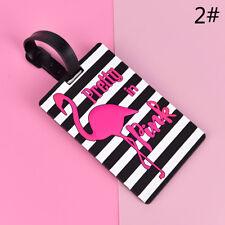 Flamingo Luggage Tag Travel Accessories Suitcase ID Address Holder Boarding LJ