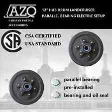 "X2 12"" HUB DRUM LANDCRUISER PARALLEL BEARING ELECTRIC SETUP trailer 6 STUDS"
