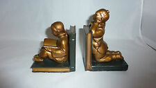 BOOKENDS CHINESE CHILDREN ON BOOKS BOY GIRL