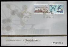 Norway 2007 'Golden Fdc' Scientific Anniversaries - Number 1230 Of 5000