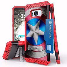 For Galaxy S8+ Tri Shield Armor Kickstand Design Cover Case HERO SHIELD STAR