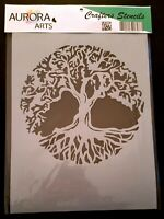 Stencil by Aurora Arts A4 Tree Of Life 190mic Mylar craft stencil 090