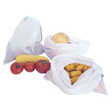 Reusable Produce Bags Organic Cotton Mesh Set of 9 Washable Mesh Eco-Friendly