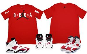 """Air Jordan 6 Retro """"Carmine"""" Match Tee T-Shirt Red (Original) CZ1880-687"""