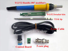 Temperature Controller + T12 Tip Bracket + Handle Case For HAKKO Soldering Iron
