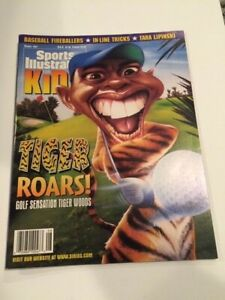 August 1997 Sports Illustrated for Kids Tiger Woods Cover w/ Card Sheet Insert