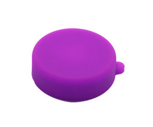 Purple Soft Silicone  Camera Lens Protective Cover Cap for GoPro Hero 3/3+/4