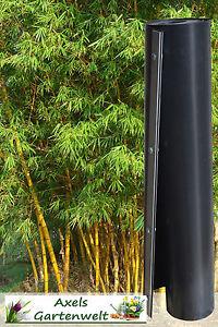 10,00€/m 3m Wurzelsperre + Verschlußleiste Rhizomsperre Bambussperre Bambus HDPE