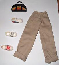 Mattel Flavas PARIS Handbag/Purse w/HipHop Pants & 3 Single Shoes EC