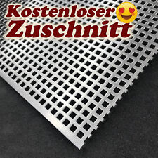 Lochblech Edelstahl geschliffen QG5-8, 1,5mm Kostenloser Zuschnitt & Versand Neu