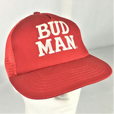 Vintage Budweiser Hat Snapback Cap BUD MAN Trucker Mesh Made In USA Stylemaster