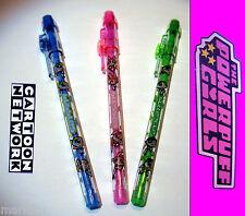 3 Licensed Powerpuff Girls plastic school pencil clear Blossom Buttercup Bubbles