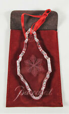 Baccarat Crystal Ornament Snowflake in Bag