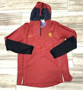 Nike USC Trojans NCAA College Football Field Windbreaker Track Jacket Mens Large