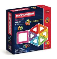 Magformers Rainbow 14 Piece Set - Children's Magnetic Construction Shapes Toy