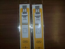 2 Packages Prinz-Scott Stamp Mounts Assortment Strips in BLACK Background