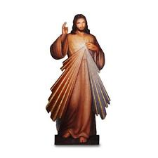 "Marco Sevelli Divine Mercy Display Plaque for Church or Home Wood 31""H Boxed"