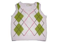 H & M toller Strick Pullunder Gr. 68 rosa mit grünen Rautenmustern !!