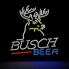 """New Busch Deer Bar Beer Man Cave Bar Neon Light Sign 20""""x16"""""""