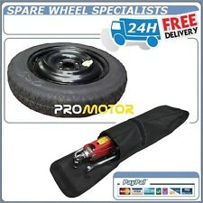 """VAUXHALL VIVA SPACE SAVER SPARE WHEEL 15""""  (4 BOLTS) 2015-2018 TOOL KIT & COVER"""