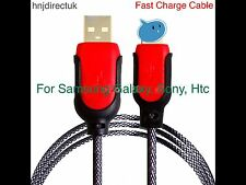 Strong Heavy Duty FAST CHARGING Braided Charger Cable For Samsung S4,S6,S7/edge