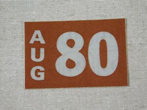 1980 Delaware passenger car license plate sticker
