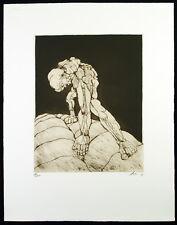 Untitled, 1978. Grosse Radierung Rudolf HOFLEHNER (1916-1995 A), handsigniert