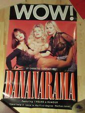 "Original 1987 Bananarama WOW! Promotional Poster 20"" x 30"""