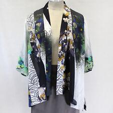 NEW NWT Citron Clothing Plus Size Digital Floral Print Open Cardigan Blouse 2X