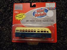 1950's US Transit Bus GMC TDH-3610 Blue & Cream  HO Scale 1:87