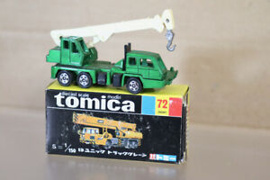 TOMICA 72 1/150 SCALE UD UNICH HYDRAULIC MOBILE CRANE TRUCK BOXED ny