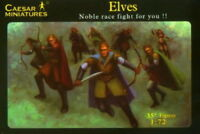 CAESAR MINIATURES 1/72 F102 Elves Archers Warriors 35 Fantasy Figures FREE SHIP